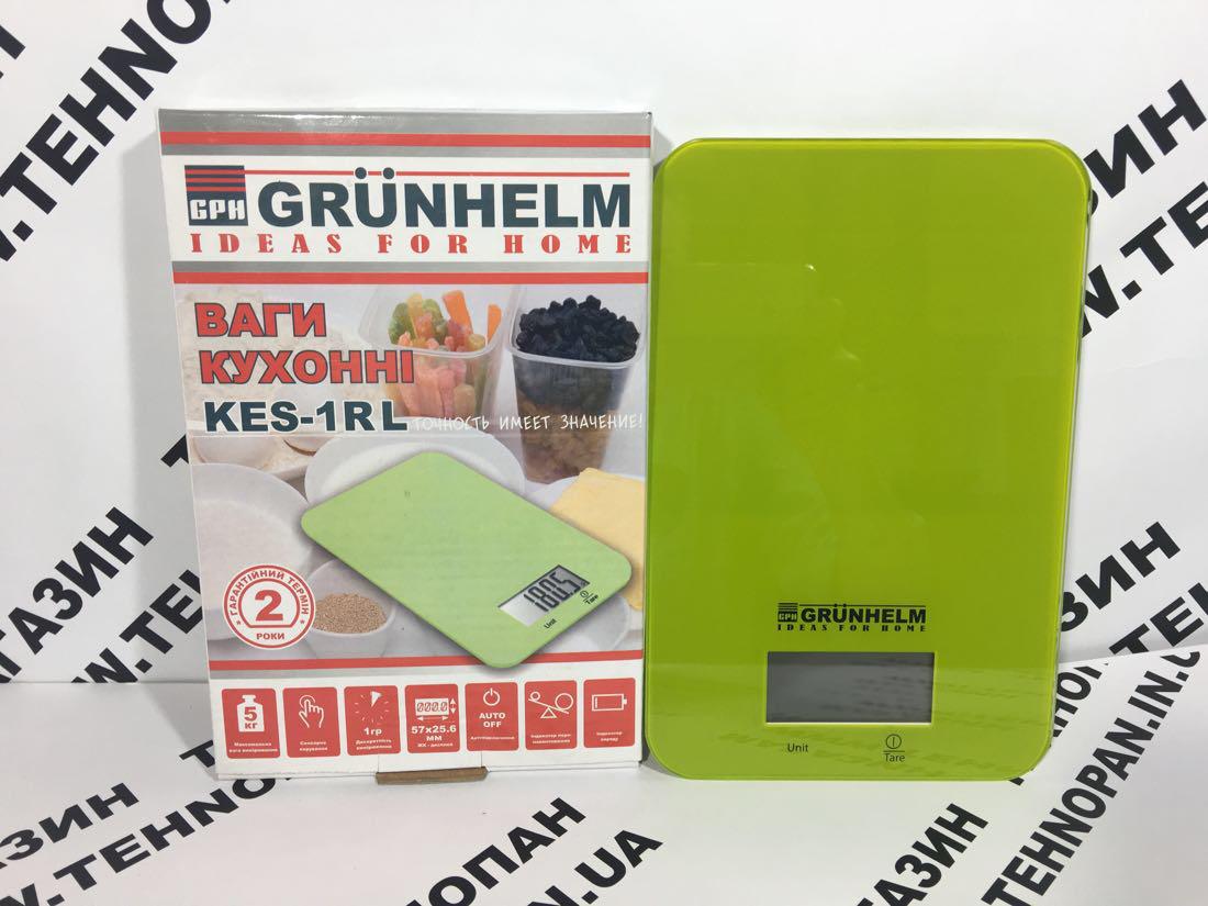 Весы кухонные Grunhelm KES-1RL