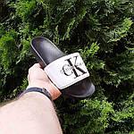 Женские шлепки Calvin Klein на лето (черно-белые) 50007, фото 9