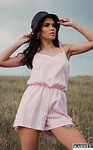 Женский комбинезон шортами в полоску на тонких бретелях /разные цвета, S, M, L, KR-Тахо/, фото 2