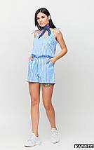 Женский комбинезон шортами в полоску на тонких бретелях /разные цвета, S, M, L, KR-Тахо/, фото 3