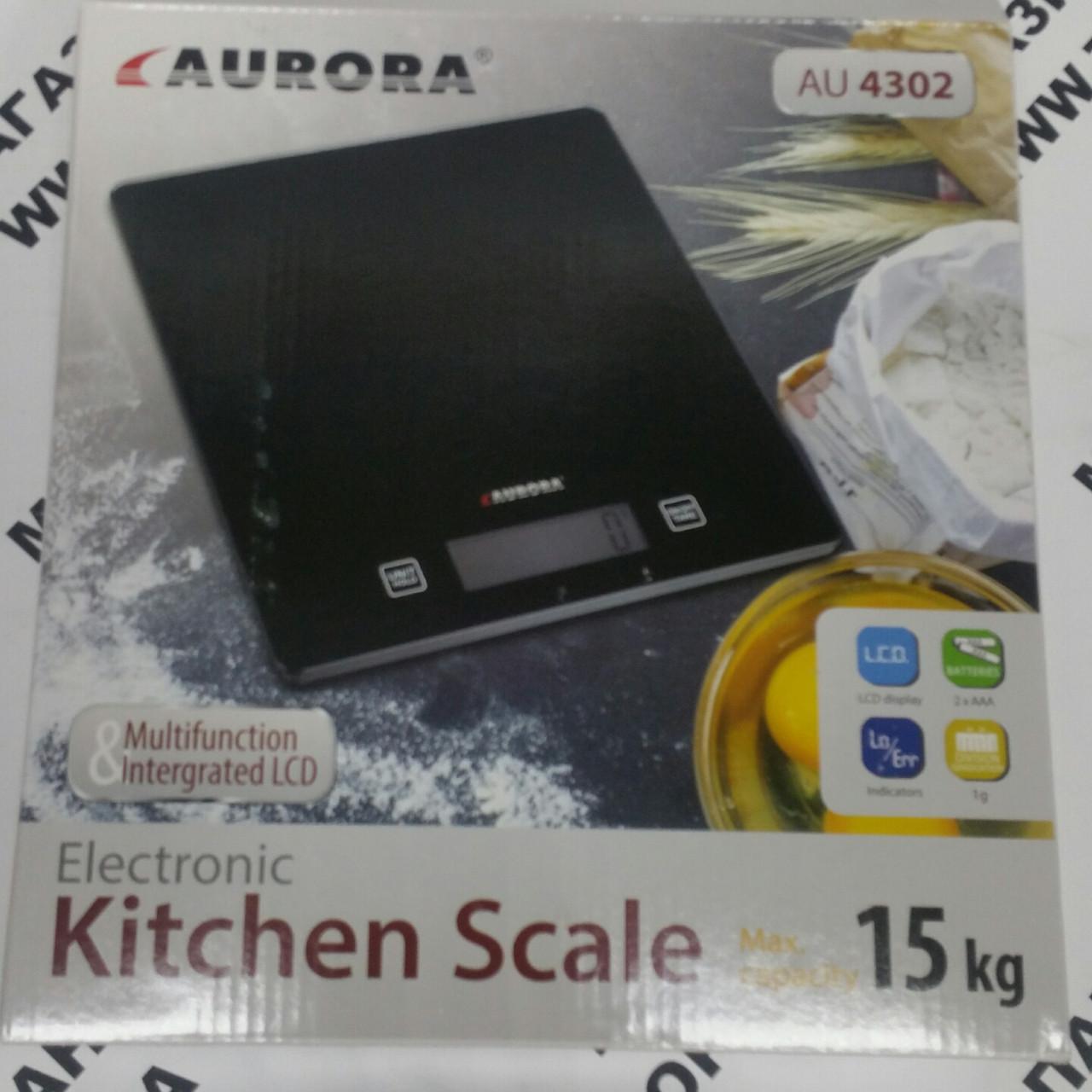 Весы 15 кг кухонные Avrora