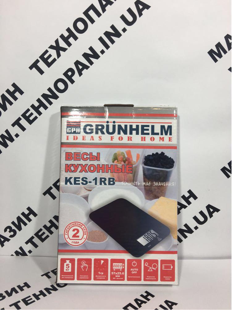 Весы кухонные Grunhelm KES-1RB