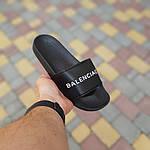 Женские летние шлепки Balenciaga (черные) 50006, фото 2