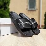 Женские летние шлепки Balenciaga (черные) 50006, фото 6