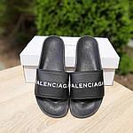 Женские летние шлепки Balenciaga (черные) 50006, фото 7