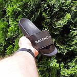Женские летние шлепки Balenciaga (черные) 50006, фото 9