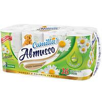 Туалетная бумага Almusso Ромашка 3-х слойная, 16 шт.