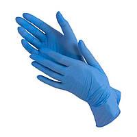 Перчатки нитриловые неопудренные, холодно-голубой, L 100 шт,Polix P&M
