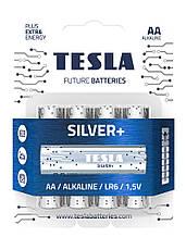 Щелочные батарейки TESLA SILVER+ AA (LR06) 4 шт.