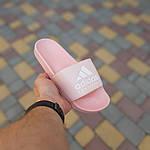 Женские шлепки Adidas на лето (розовые) 50005, фото 2