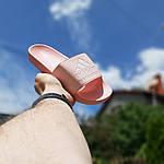Женские шлепки Adidas на лето (розовые) 50005, фото 4