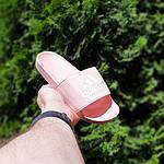 Женские шлепки Adidas на лето (розовые) 50005, фото 6