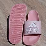 Женские шлепки Adidas на лето (розовые) 50005, фото 7