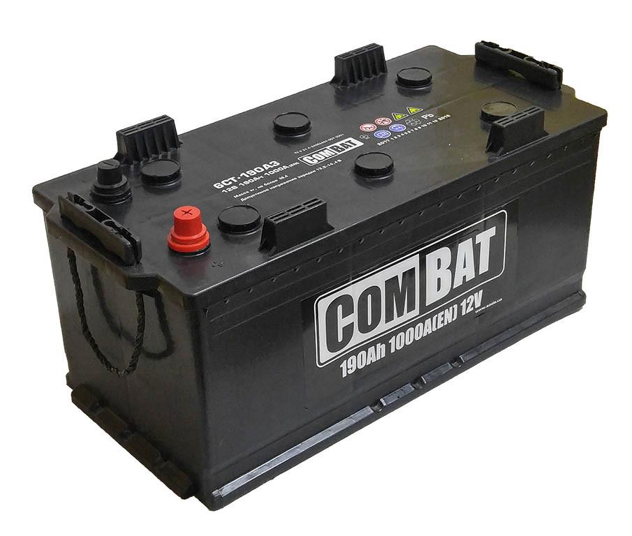 Автомобильный аккумулятор грузовой SADA COMBAT 12 V 6СТ-190 Ah АзЕ 1000A Украина