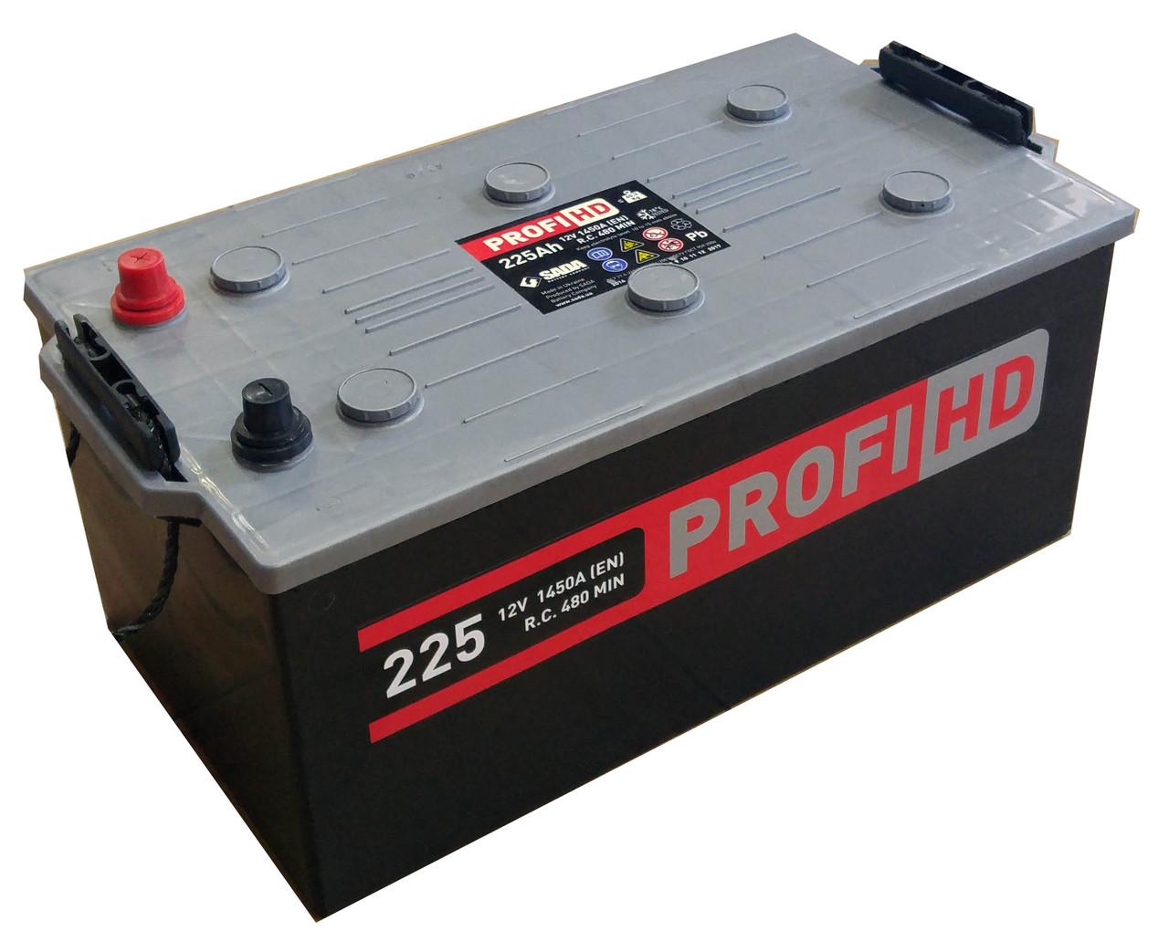 Автомобильный аккумулятор грузовой SADA PROFI HD 6СТ-225 Ач  12V 1425 А Украина