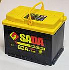 Автомобильный аккумулятор SADA Standard 6СТ-62 (+/-) сада стандард,12В, 62Ач, 570А, фото 2