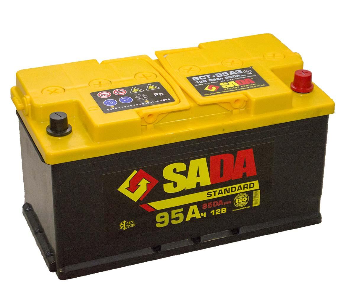 Автомобильный аккумулятор SADA Standard 6СТ-95 (-/+)Евро сада стандард,12В, 95Ач, 850А