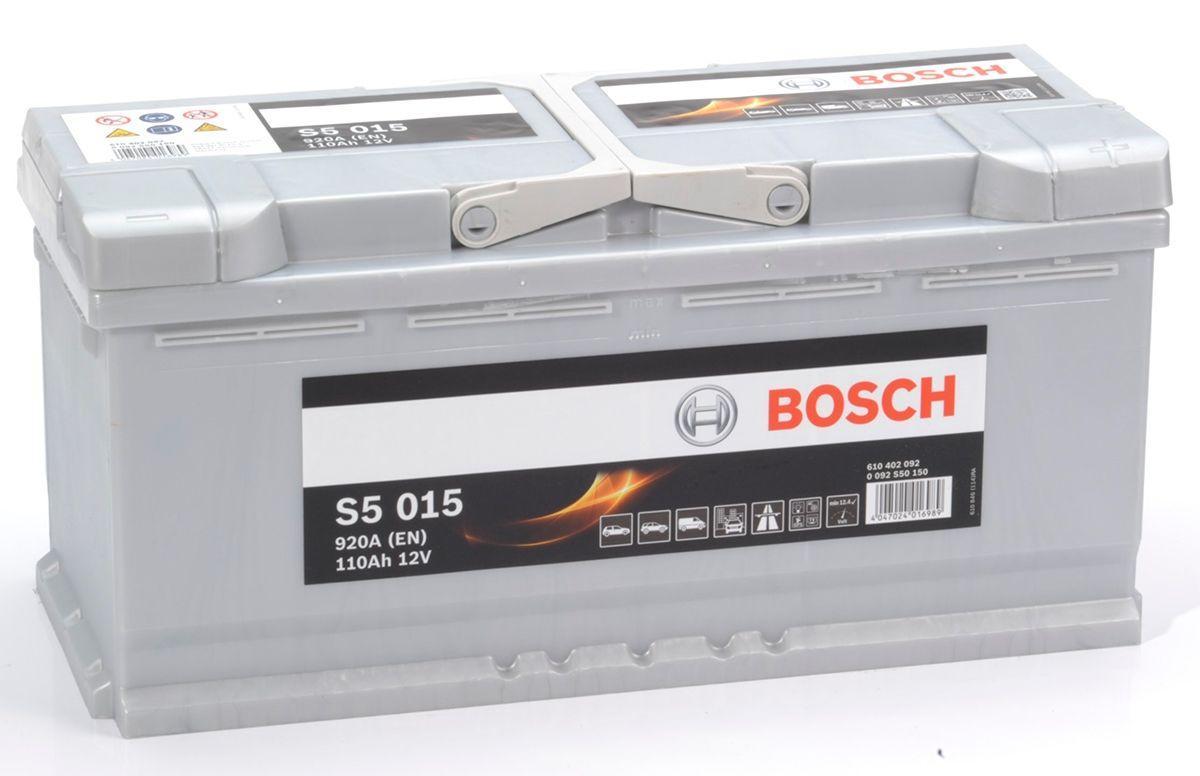 Аккумулятор 6СТ-110A Bosch (S5015), 12V, 110Ah (-/+) Бош евро, 12В, 110Ач, EN920А