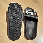 Жіночі літні шльопанці FILA (чорні) 50004, фото 7