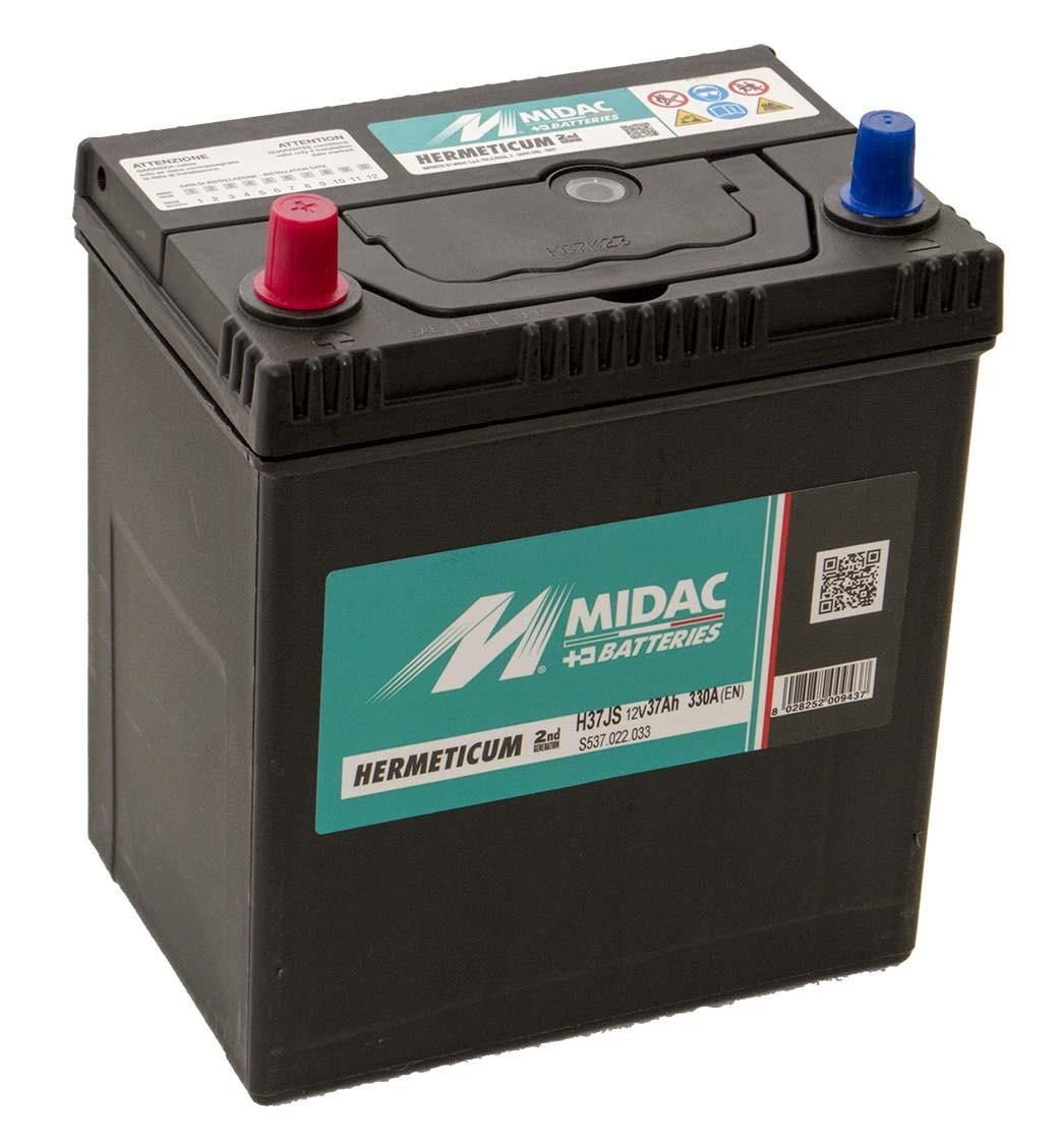 Аккумулятор 6СТ-37A MIDAC HERMETICUM Asia, 12V, 37Ah, (+/-), Мидак Герметикум Азия, 12В, 37Ач, EN330А