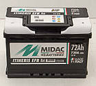 Аккумулятор 6СТ-72A MIDAC ITINERIS EFB START STOP, 12V, 72Ah, R Мидак Итинерис, 12В, 72Ач, EN720А, фото 2