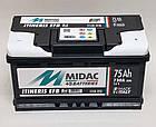 Аккумулятор 6СТ-75A MIDAC ITINERIS EFB START STOP низкий, 12V, 75Ah, R Мидак Итинерис, 12В, 75Ач, EN730А, фото 2