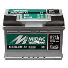 Автомобильный аккумулятор MIDAC S3 SIGILLUM 12 V 6СТ-82 Ah R+ АзЕ 770A Италия, фото 2