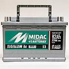 Автомобильный аккумулятор MIDAC S3 SIGILLUM 12 V 6СТ-82 Ah R+ АзЕ 770A Италия, фото 4