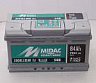 Аккумулятор 6СТ-84A MIDAC S4B Sigillum 12V, 84Ah (-/+) низкий евро Мидак Сигиллум, 12В, 84Ач, EN780А, фото 2