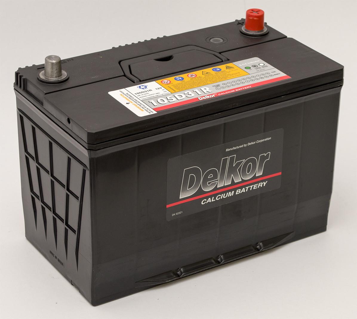 Автомобильный аккумулятор DELKOR Asia L+ 105D31R  6СТ-90Ah АзЕ 750A  Корея