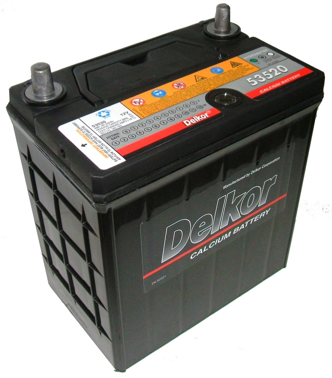Автомобильный аккумулятор DELKOR ASIA JIS 6СТ-35 Ah АзЕ 275 A (R+) Корея
