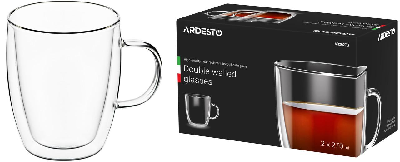 Набор чашек для латте с двойными стенками - 2 шт по 270 мл Ardesto AR2627G