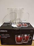Набор чашек для латте с двойными стенками - 2 шт по 310 мл Ardesto AR2631GH, фото 2