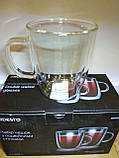 Набор чашек для латте с двойными стенками - 2 шт по 400 мл Ardesto AR2640GH, фото 3