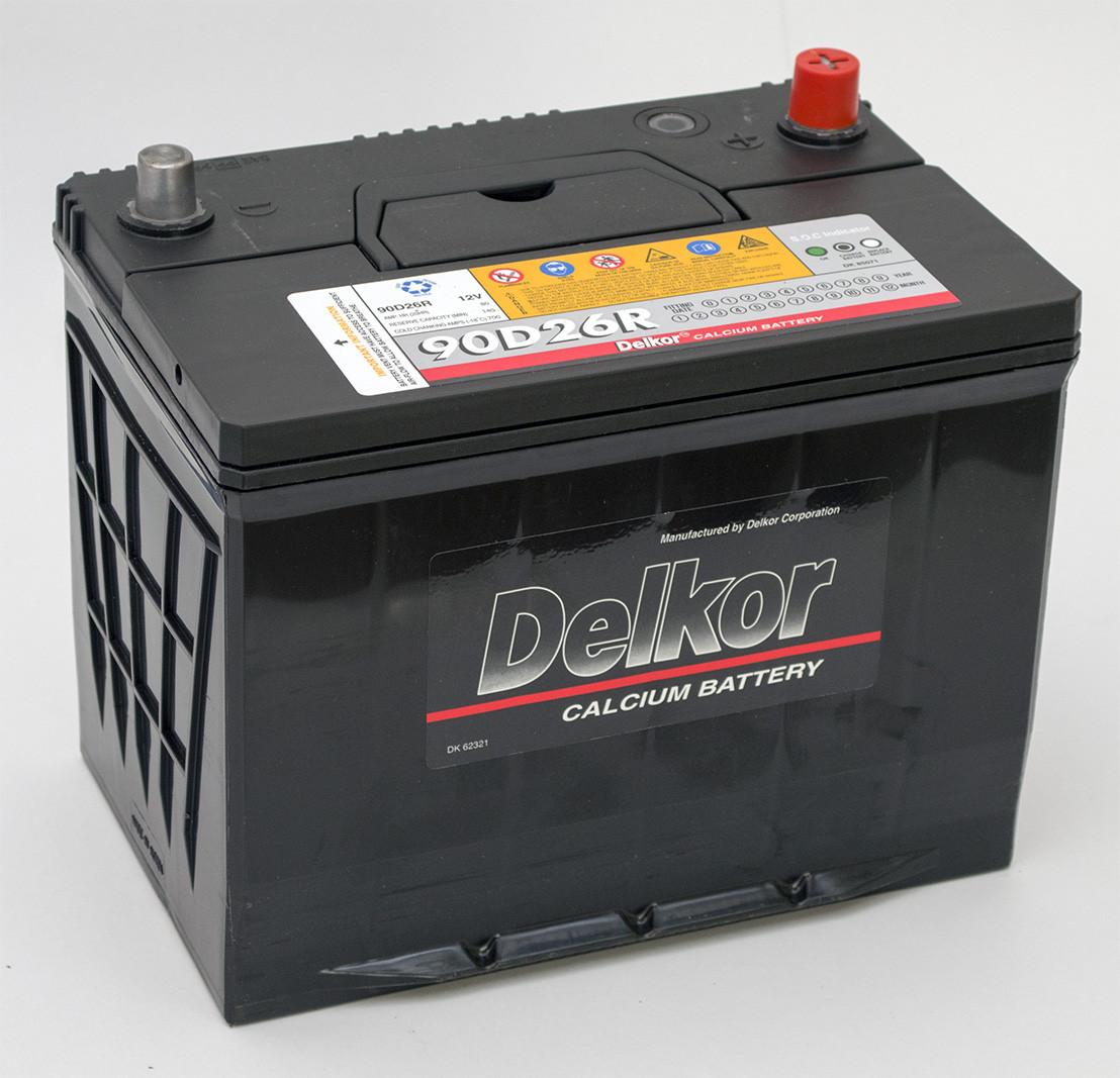 Аккумулятор Delkor 90D26R (6СТ-80 Азия)  L+ левый плюс
