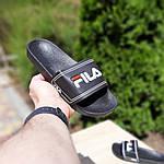 Чоловічі літні шльопанці Fila (чорні) 40015, фото 3