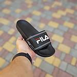 Чоловічі літні шльопанці Fila (чорні) 40015, фото 5