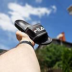 Чоловічі літні шльопанці Fila (чорні) 40015, фото 4
