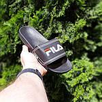 Чоловічі літні шльопанці Fila (чорні) 40015, фото 6