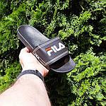 Чоловічі літні шльопанці Fila (чорні) 40015, фото 7