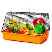 Клітка для гризунів Лорі Щурик Люкс (570 х 300 х 340 мм), помаранчева, покриття фарба, цільна