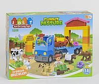 Конструктор для детей JDLT Funny Pasture 5208 Ферма 58 эл. крупные детали