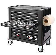 Тележка инструментальная профессиональная Sonic-equipment S11 644 единицы (RAL9004)