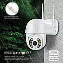 3 Мп уличная поворотная IP WiFi камера Besder BES-A8-3MP 1536P Onvif. iCSee, фото 6