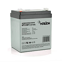 Аккумуляторная батарея MERLION AGM GP1250F1, 12V 5Ah ( 90 х 70 х 100 (105) )