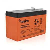 Аккумуляторная батарея MERLION GL1290F2 12 V 9Ah ( 150 x 65 x 95 (100) Orange гелевая