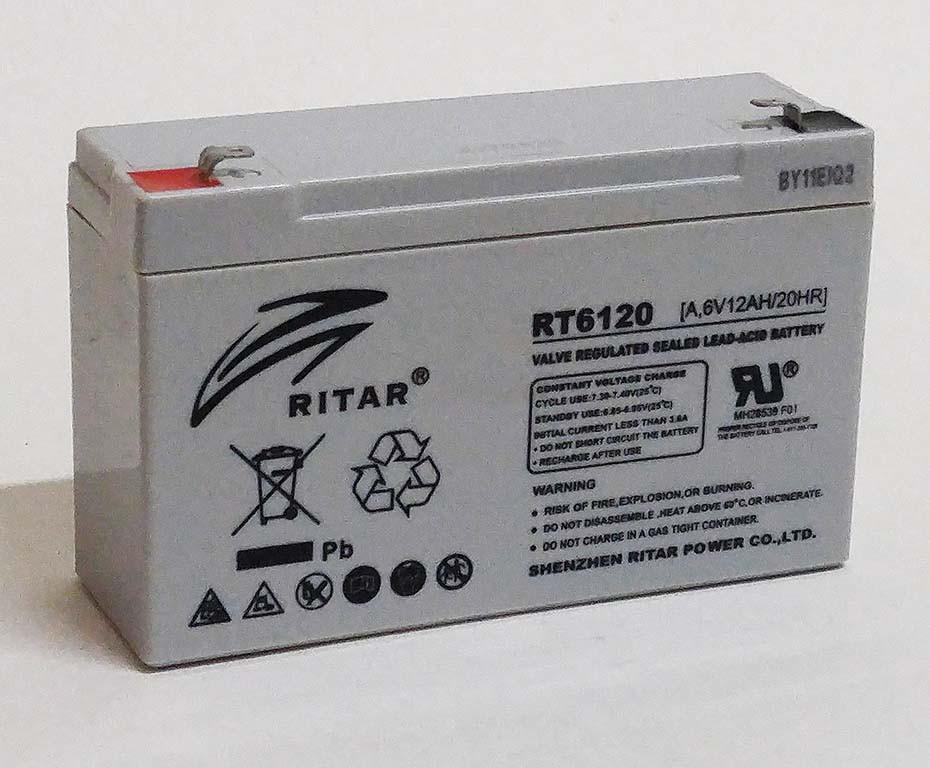 Батарея аккумуляторная RITAR RT6120, 6В, 12Ач