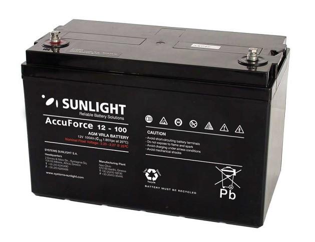 Батарея аккумуляторная SUNLIGHT SP 12 - 100