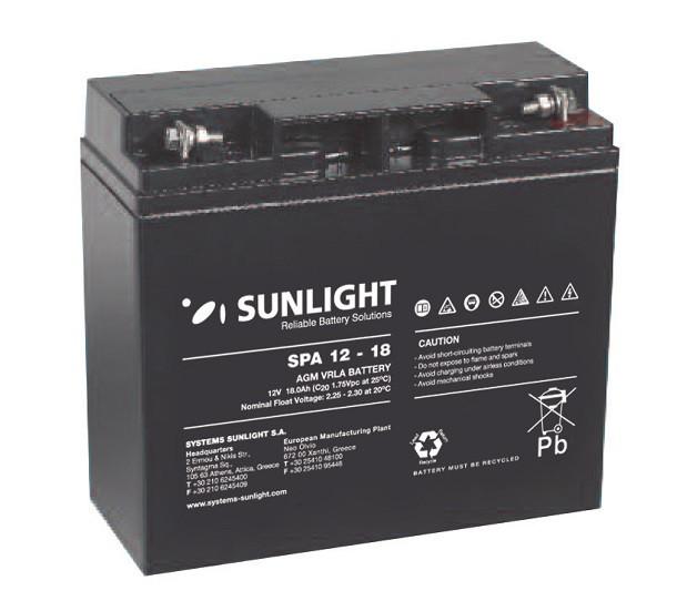 Батарея аккумуляторная SUNLIGHT SP 12 - 18