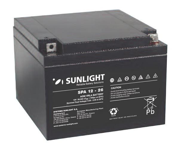 Батарея аккумуляторная SUNLIGHT SP 12 - 26